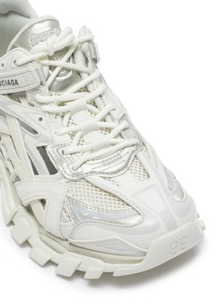 Detail View - Click To Enlarge - BALENCIAGA - 'Track' caged patchwork sneakers