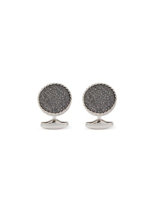 Main View - Click To Enlarge - TATEOSSIAN - Drusy crystal covered agate cufflinks