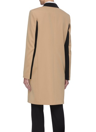 Back View - Click To Enlarge - STELLA MCCARTNEY - Contrast Lapel Coat