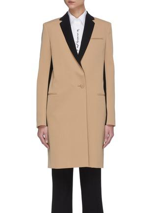 Main View - Click To Enlarge - STELLA MCCARTNEY - Contrast Lapel Coat