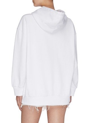 Back View - Click To Enlarge - STELLA MCCARTNEY - Slogan embroidered hoodie