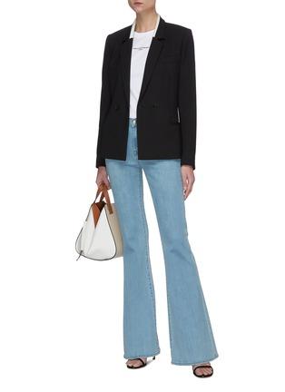 Figure View - Click To Enlarge - STELLA MCCARTNEY - Contrast Collar Blazer