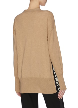 Back View - Click To Enlarge - STELLA MCCARTNEY - Logo side band cardigan