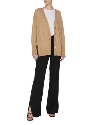 Figure View - Click To Enlarge - STELLA MCCARTNEY - Logo side band cardigan
