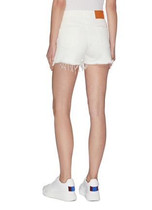 Back View - Click To Enlarge - STELLA MCCARTNEY - 'Stella' logo denim shorts