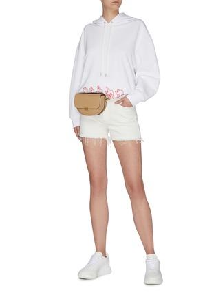 Figure View - Click To Enlarge - STELLA MCCARTNEY - 'Stella' logo denim shorts