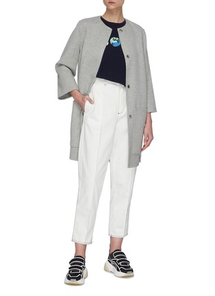 Figure View - Click To Enlarge - STELLA MCCARTNEY - Oversize Pocket Coat