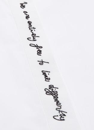 - STELLA MCCARTNEY - 'We Are The Weather' Slogan Print Shirt