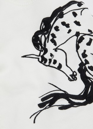 - STELLA MCCARTNEY - Horse embroidered denim skirt