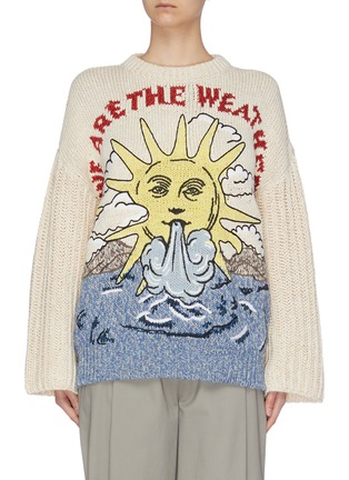Main View - Click To Enlarge - STELLA MCCARTNEY - 'We Are The Weather' chunky sweater