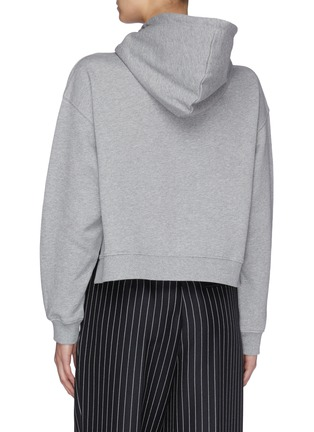 Back View - Click To Enlarge - STELLA MCCARTNEY - Logo print crop hoodie