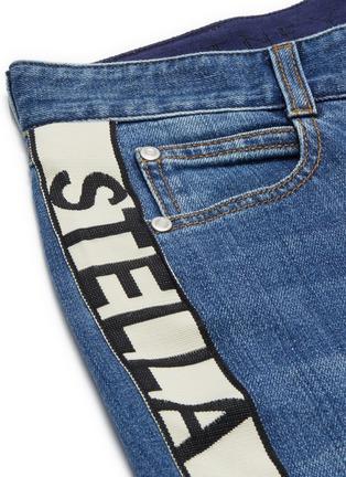 - STELLA MCCARTNEY - Logo stripe outseam boyfriend jeans