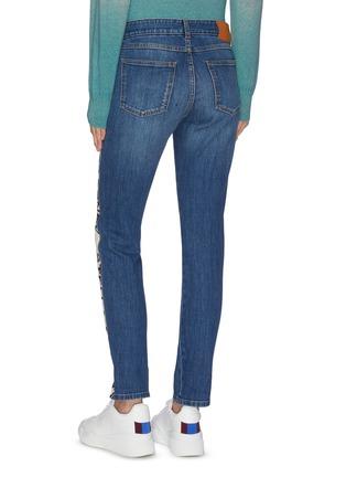 Back View - Click To Enlarge - STELLA MCCARTNEY - Logo stripe outseam boyfriend jeans