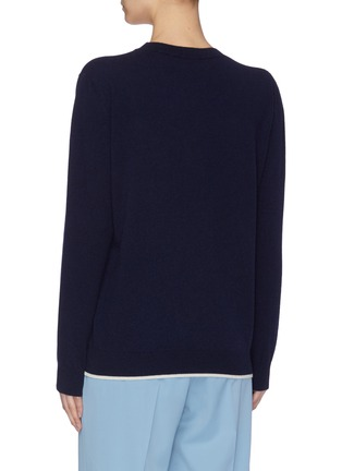 Back View - Click To Enlarge - STELLA MCCARTNEY - 'SOS Globe' embroidered cotton sweater