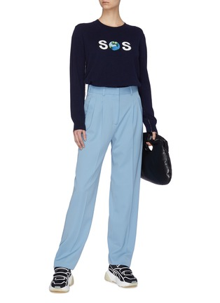 Figure View - Click To Enlarge - STELLA MCCARTNEY - 'SOS Globe' embroidered cotton sweater