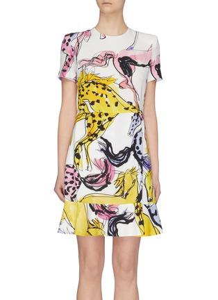 Main View - Click To Enlarge - STELLA MCCARTNEY - Horse Print Dress