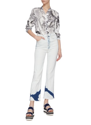 Figure View - Click To Enlarge - STELLA MCCARTNEY - Horse print button-up shirt