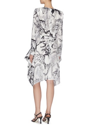Back View - Click To Enlarge - STELLA MCCARTNEY - Horse Print Dress