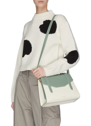 Figure View - Click To Enlarge - STRATHBERRY - 'Allegro Midi' leather satchel