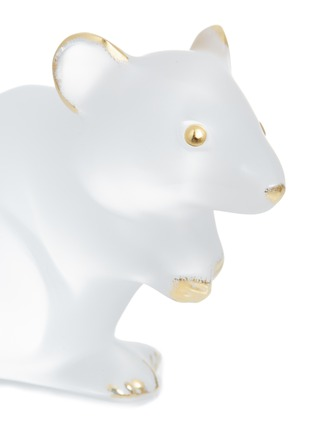 Detail View - Click To Enlarge - LALIQUE - Souris Mouse Clear and Gold Stamped Crystal Sculpture