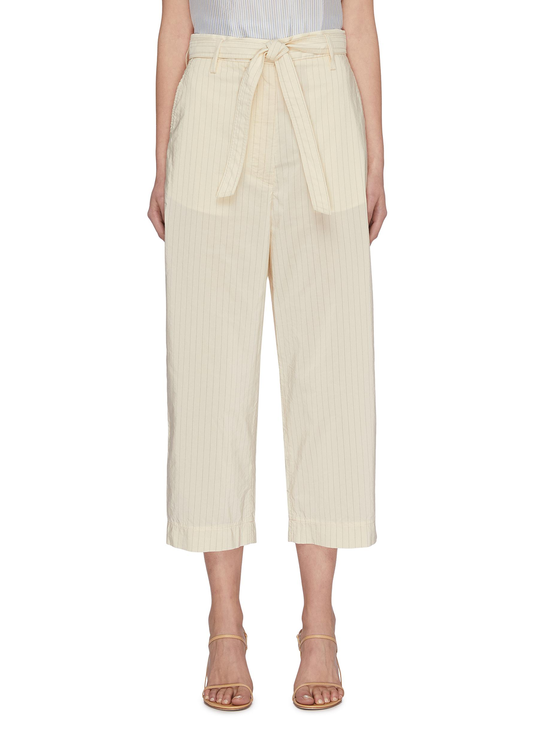 Buy Barena Pants & Shorts 'Giuditta Gess Cupro' tie waist chino pants