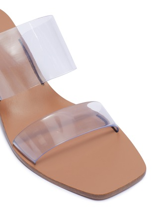 Detail View - Click To Enlarge - CULT GAIA - 'Jila' Double Band Circular Heel Vinyl Sandals