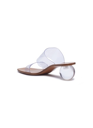 - CULT GAIA - 'Jila' Double Band Circular Heel Vinyl Sandals