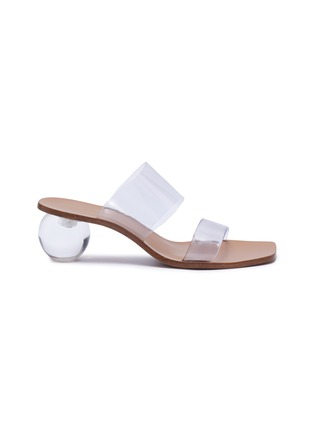 Main View - Click To Enlarge - CULT GAIA - 'Jila' Double Band Circular Heel Vinyl Sandals
