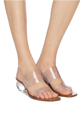 Figure View - Click To Enlarge - CULT GAIA - 'Jila' Double Band Circular Heel Vinyl Sandals