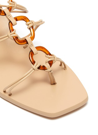 Detail View - Click To Enlarge - CULT GAIA - 'Ziba' strappy ring sandals
