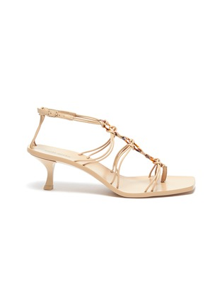 Main View - Click To Enlarge - CULT GAIA - 'Ziba' strappy ring sandals