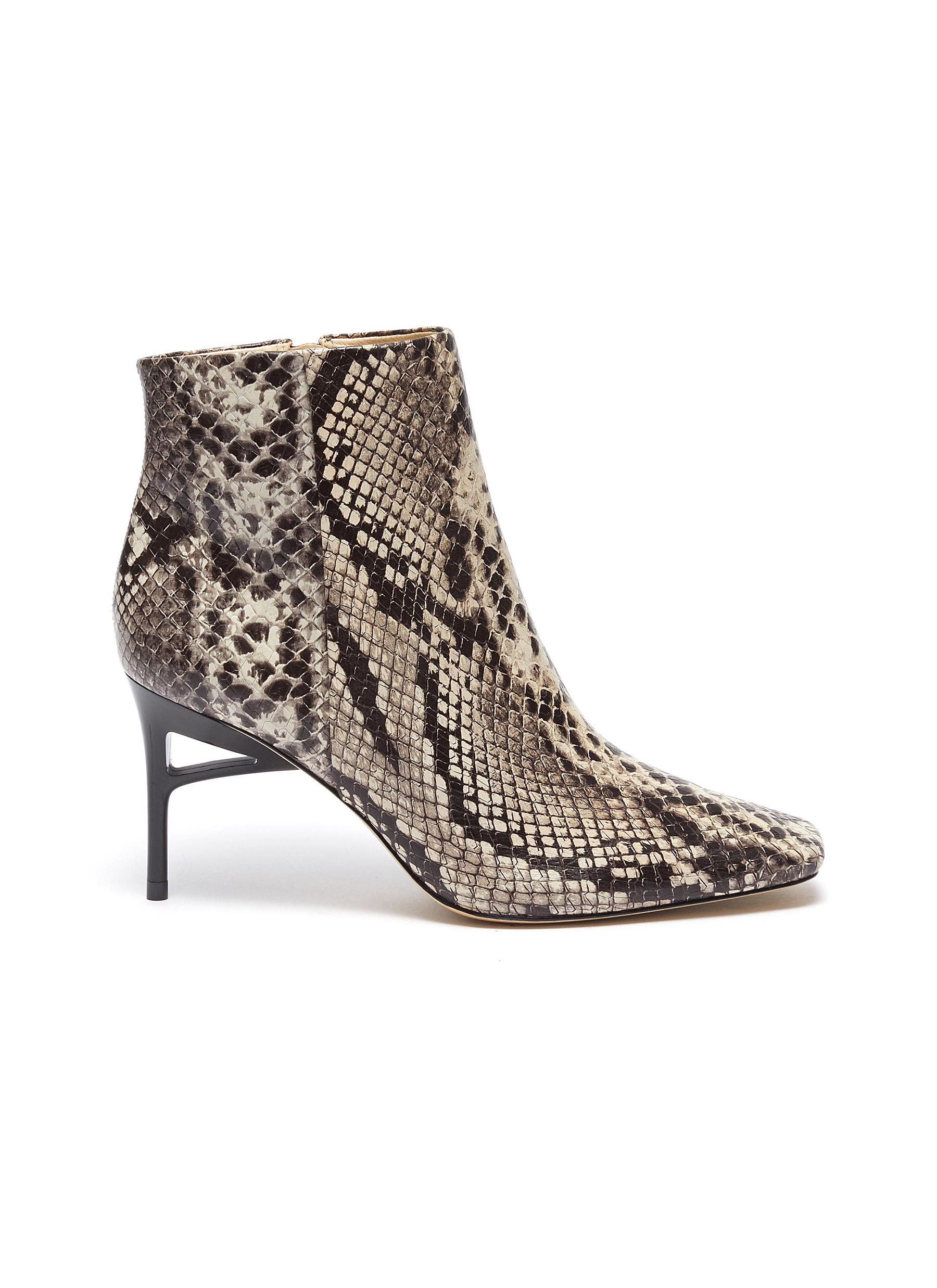 shop Cult Gaia 'Arezoo' snake embossed leather boots online