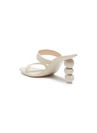 - CULT GAIA - 'Meta' stacked pebble heel snake embossed leather sandals