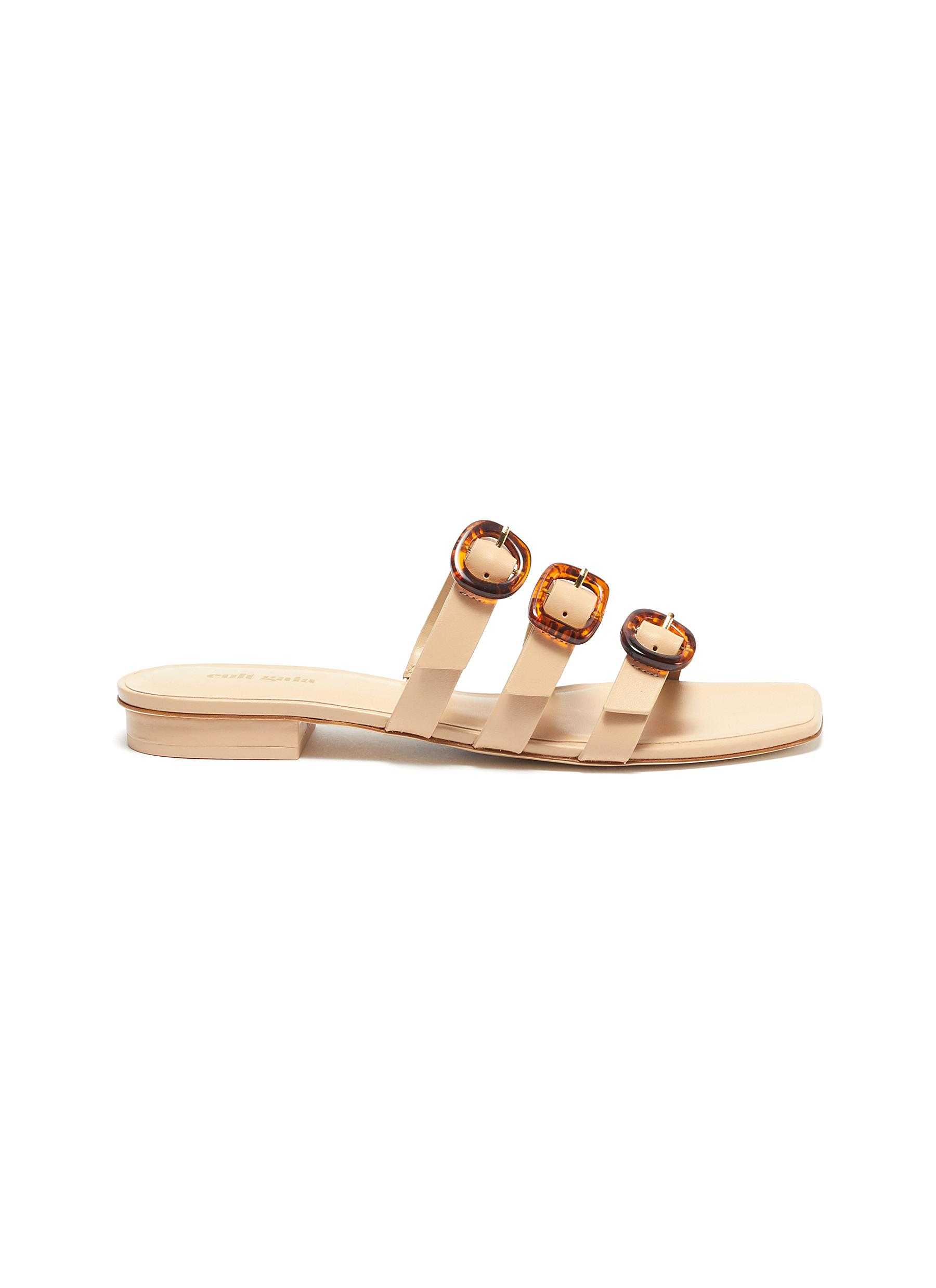 Cult Gaia Flats Tallulah buckle leather sandals