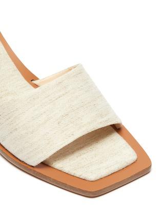 Detail View - Click To Enlarge - CULT GAIA - 'Tao' wooden heel linen sandals