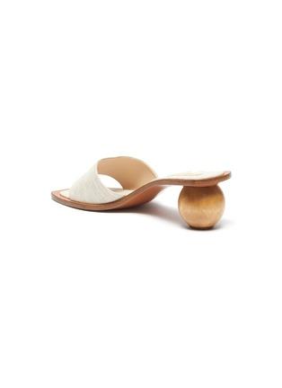- CULT GAIA - 'Tao' wooden heel linen sandals