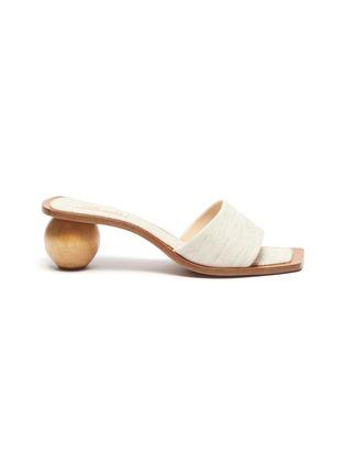 Main View - Click To Enlarge - CULT GAIA - 'Tao' wooden heel linen sandals