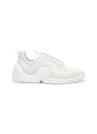 Main View - Click To Enlarge - PIERRE HARDY - 'VIBE' PERFORATED LEATHER SNEAKERS