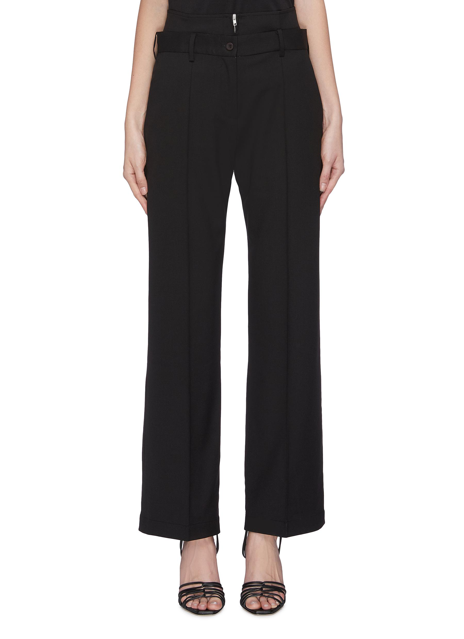 shop Maya Li Double belted tailored pants online