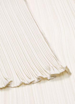 - MAYA LI - Asymmetric hem spliced ruffle skirt