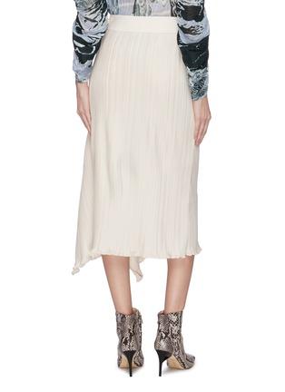 Back View - Click To Enlarge - MAYA LI - Asymmetric hem spliced ruffle skirt