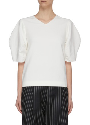 Main View - Click To Enlarge - FFIXXED STUDIOS - Cocoon Sleeve V Neck Top