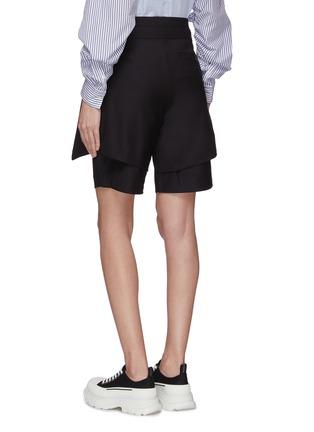 Back View - Click To Enlarge - FFIXXED STUDIOS - Asymmetric layer tie belt shorts