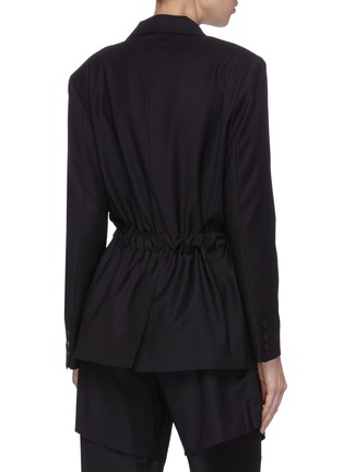 Back View - Click To Enlarge - FFIXXED STUDIOS - 'Wutong' notch lapel belted wool-blend blazer