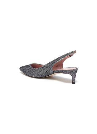 - PEDDER RED - 'Tania' metallic slingback mules