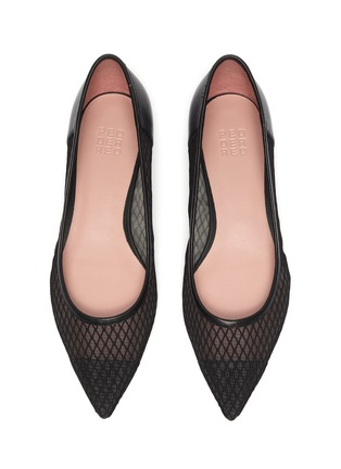 Detail View - Click To Enlarge - PEDDER RED - 'Alexia' fishnet mesh leather skimmer flats