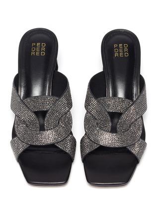Detail View - Click To Enlarge - PEDDER RED - 'Albie' crystal embellished sandals