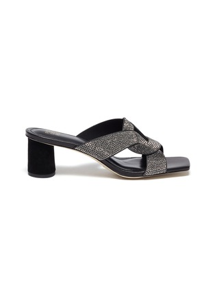 Main View - Click To Enlarge - PEDDER RED - 'Albie' crystal embellished sandals
