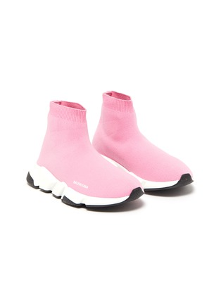 Detail View - Click To Enlarge - BALENCIAGA - 'Speed' knit kids slip-on sneakers
