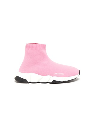 Main View - Click To Enlarge - BALENCIAGA - 'Speed' knit kids slip-on sneakers
